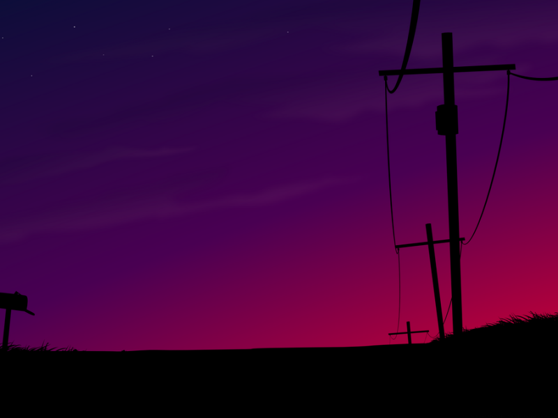 Spring_Sunset_Road_by_Klowner.png